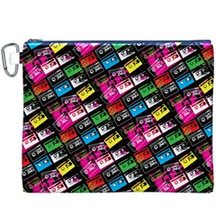Pattern Colorfulcassettes Icreate Canvas Cosmetic Bag (xxxl)