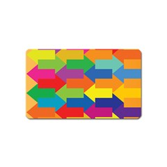 Arrow Rainbow Orange Blue Yellow Red Purple Green Magnet (name Card)