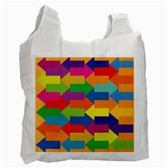 Arrow Rainbow Orange Blue Yellow Red Purple Green Recycle Bag (two Side)