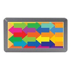 Arrow Rainbow Orange Blue Yellow Red Purple Green Memory Card Reader (mini)