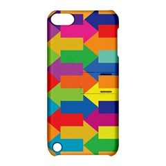 Arrow Rainbow Orange Blue Yellow Red Purple Green Apple Ipod Touch 5 Hardshell Case With Stand