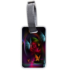 Beautiful Butterflies Rainbow Space Luggage Tags (two Sides)