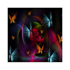 Beautiful Butterflies Rainbow Space Acrylic Tangram Puzzle (6  X 6 )