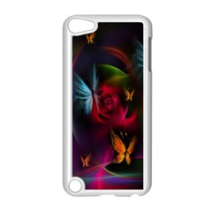 Beautiful Butterflies Rainbow Space Apple Ipod Touch 5 Case (white)