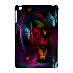 Beautiful Butterflies Rainbow Space Apple Ipad Mini Hardshell Case (compatible With Smart Cover)