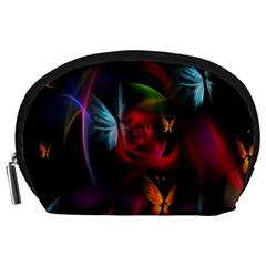 Beautiful Butterflies Rainbow Space Accessory Pouches (large)