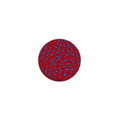 Blue Red Space Galaxy 1  Mini Magnets