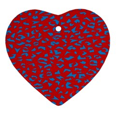 Blue Red Space Galaxy Ornament (heart)
