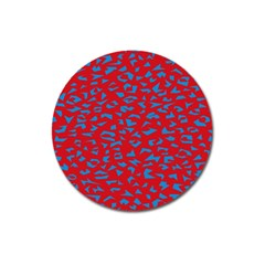 Blue Red Space Galaxy Magnet 3  (round)
