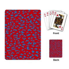 Blue Red Space Galaxy Playing Card