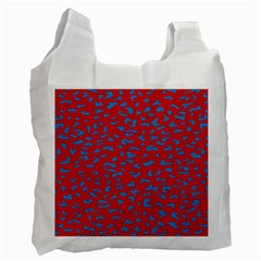 Blue Red Space Galaxy Recycle Bag (two Side)