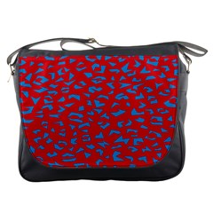 Blue Red Space Galaxy Messenger Bags