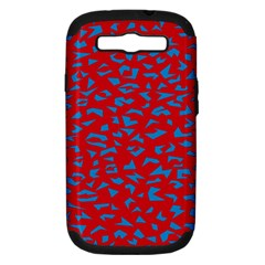 Blue Red Space Galaxy Samsung Galaxy S Iii Hardshell Case (pc+silicone)