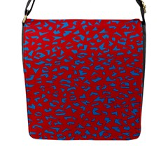 Blue Red Space Galaxy Flap Messenger Bag (l)