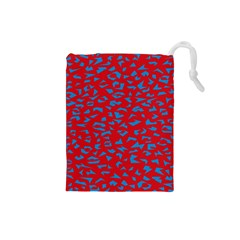 Blue Red Space Galaxy Drawstring Pouches (small)