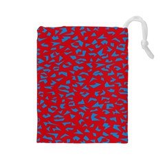 Blue Red Space Galaxy Drawstring Pouches (large)