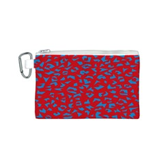 Blue Red Space Galaxy Canvas Cosmetic Bag (s)