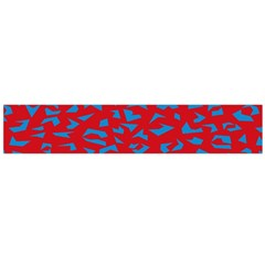 Blue Red Space Galaxy Flano Scarf (large)
