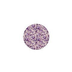 Vegetable Cabbage Purple Flower 1  Mini Magnets