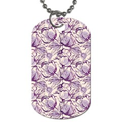 Vegetable Cabbage Purple Flower Dog Tag (two Sides)