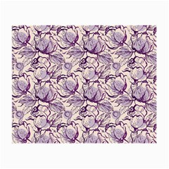Vegetable Cabbage Purple Flower Small Glasses Cloth