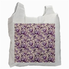 Vegetable Cabbage Purple Flower Recycle Bag (one Side)
