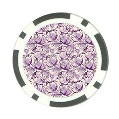 Vegetable Cabbage Purple Flower Poker Chip Card Guard (10 Pack)
