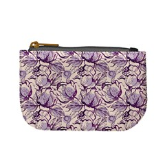 Vegetable Cabbage Purple Flower Mini Coin Purses