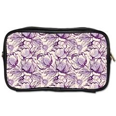 Vegetable Cabbage Purple Flower Toiletries Bags