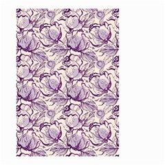 Vegetable Cabbage Purple Flower Small Garden Flag (two Sides)
