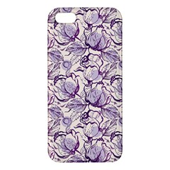Vegetable Cabbage Purple Flower Apple Iphone 5 Premium Hardshell Case