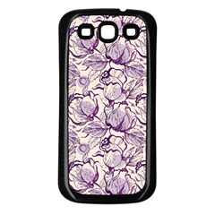 Vegetable Cabbage Purple Flower Samsung Galaxy S3 Back Case (black)
