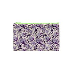 Vegetable Cabbage Purple Flower Cosmetic Bag (xs)