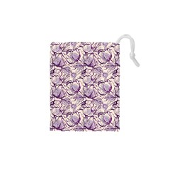 Vegetable Cabbage Purple Flower Drawstring Pouches (xs)