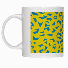 Blue Yellow Space Galaxy White Mugs
