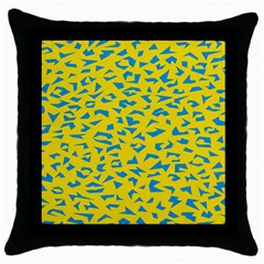 Blue Yellow Space Galaxy Throw Pillow Case (black)