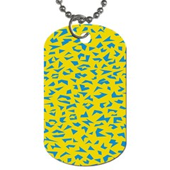 Blue Yellow Space Galaxy Dog Tag (two Sides)