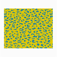 Blue Yellow Space Galaxy Small Glasses Cloth (2 Side)