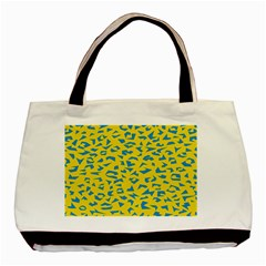 Blue Yellow Space Galaxy Basic Tote Bag (two Sides)