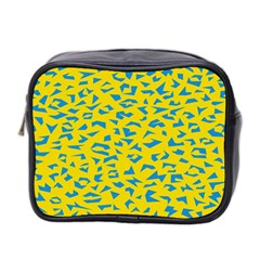 Blue Yellow Space Galaxy Mini Toiletries Bag 2 Side