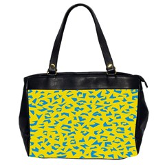 Blue Yellow Space Galaxy Office Handbags (2 Sides)