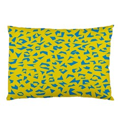 Blue Yellow Space Galaxy Pillow Case (two Sides)