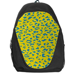 Blue Yellow Space Galaxy Backpack Bag