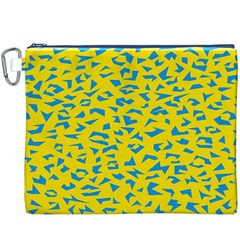 Blue Yellow Space Galaxy Canvas Cosmetic Bag (xxxl)