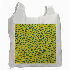 Blue Yellow Space Galaxy Recycle Bag (one Side)