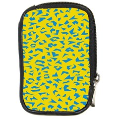 Blue Yellow Space Galaxy Compact Camera Cases