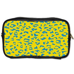 Blue Yellow Space Galaxy Toiletries Bags 2 Side