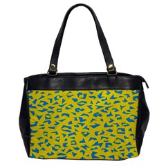 Blue Yellow Space Galaxy Office Handbags