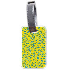 Blue Yellow Space Galaxy Luggage Tags (two Sides)