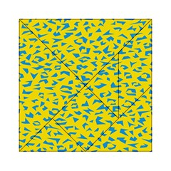 Blue Yellow Space Galaxy Acrylic Tangram Puzzle (6  X 6 )